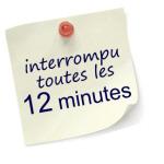 interrompu toutes les 12 minutes
